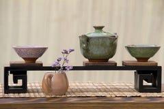 Positionnement de thé chinois photographie stock