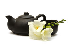 Positionnement de thé chinois Image stock