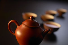 Positionnement de thé chinois Photographie stock libre de droits