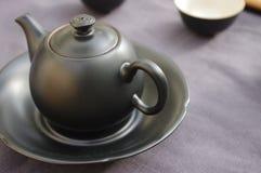 Positionnement de thé chinois Image libre de droits