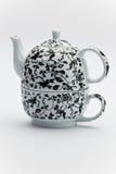 Positionnement de thé fleuri Photo stock