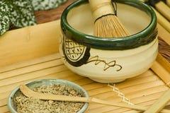 Positionnement de thé japonais traditionnel Image libre de droits