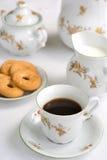 Positionnement de thé ou de café Photographie stock libre de droits