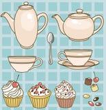 Positionnement de thé Images stock