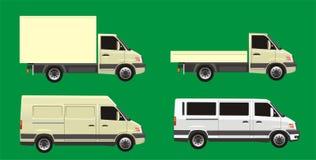 Positionnement de véhicule de distribution Photographie stock
