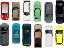Positionnement de véhicule de vecteur Images stock