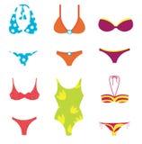 Positionnement de vêtements de bain Photo stock