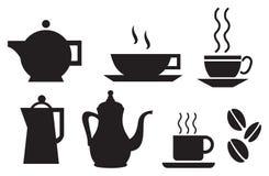 Positionnement de vaisselle de café et de thé illustration stock