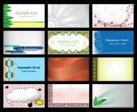 Positionnement de vecteur d'â de cartes de visite professionnelle de visite Image stock