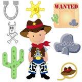 Positionnement de vecteur de cowboy Photos stock