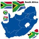 Positionnement de vecteur de l'Afrique du Sud. Photos libres de droits