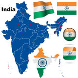 Positionnement de vecteur de l'Inde. Image libre de droits