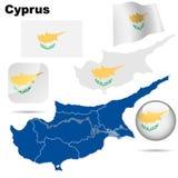 Positionnement de vecteur de la Chypre. Photos libres de droits