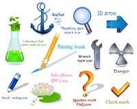 positionnement de vecteur des graphismes 3d illustration stock