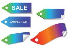 positionnement de vente d'étiquettes Image stock