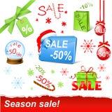 Positionnement de vente de Noël Images libres de droits