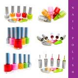 Positionnement de vernis à ongles Photo stock