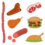 Positionnement de viande illustration de vecteur