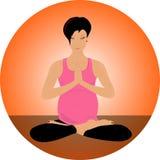 Positionnement de yoga Photo stock
