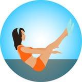 Positionnement de yoga Photos stock