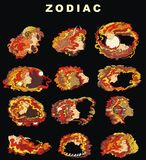 Positionnement de zodiaque illustration libre de droits