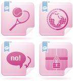 Positionnement divers de Web illustration libre de droits