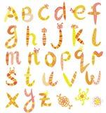 Positionnement drôle d'alphabet Images stock