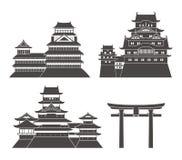 Positionnement du Japon Architecture d'isolement du Japon sur le fond blanc Photographie stock