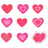 Positionnement du jour de valentine de coeur. illustration. Photo libre de droits