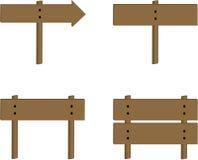 Positionnement en bois de signe Photographie stock