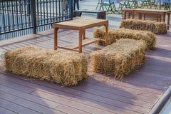 Positionnement en bois de table Images stock