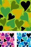 Positionnement en forme de coeur de configuration de camouflage illustration stock