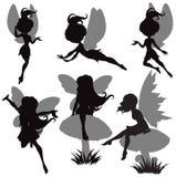 Positionnement féerique de silhouette Photo stock