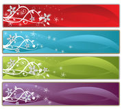 Positionnement floral de drapeau Image libre de droits