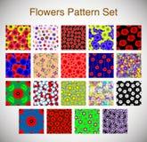 Positionnement floral sans joint de configuration Photo stock