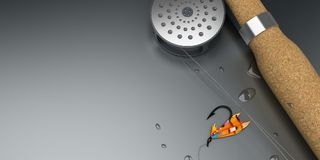 Positionnement Fly-Fishing Images stock