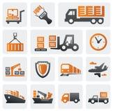 Positionnement logistique et d'expédition de graphisme Image stock
