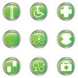Positionnement médical de bouton Images stock