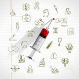 Positionnement médical de graphisme Photographie stock libre de droits