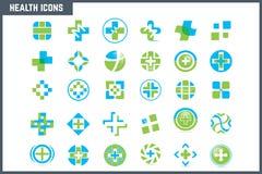 Positionnement médical et de santé de graphisme Images stock