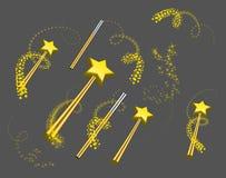 Positionnement magique de baguette magique Photographie stock libre de droits