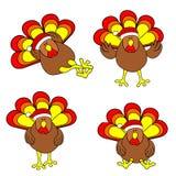 Positionnement mignon de la Turquie de Noël Image stock