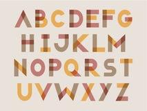 Positionnement moderne de lettre Images stock