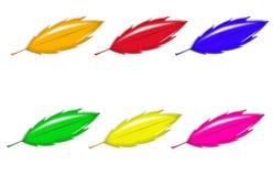 positionnement multi coloré de lames Photos stock