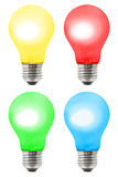 positionnement multicolore de lampes Images stock
