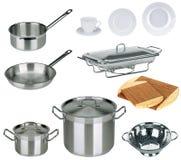 Positionnement neuf de cuisine d'isolement Images stock
