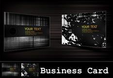 Positionnement noir de carte de visite professionnelle de visite de vecteur Images libres de droits