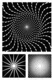 Positionnement noir et blanc de conception Photographie stock libre de droits