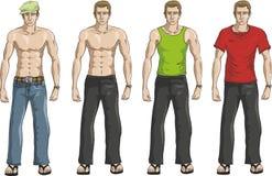 Positionnement occasionnel de robe d'hommes Image libre de droits