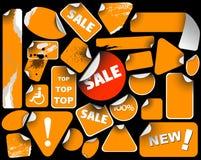 positionnement orange de vente d'étiquettes